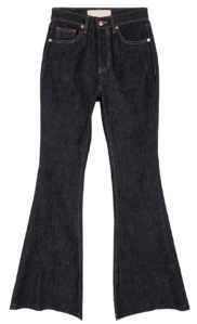 Breen Raw Fleece-lined Flared jeans