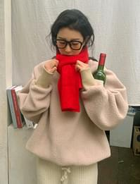 All-day wide Ribbed scarf