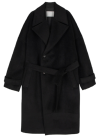 Over Wide Wool Maxi Long Coat