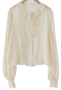 Marie Frill Carapin Tuck Blouse