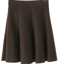 Joy flared knit midi skirt