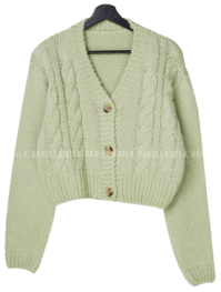 Dora V-Neck Twisted Cardigan