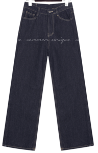 PONTS NAPPING WIDE DENIM PANTS