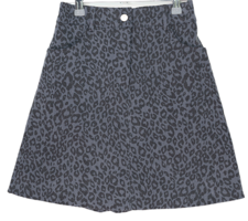 Two night leopard banding mini skirt
