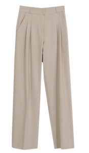 Menipin Tuck Fleece-lined Slacks