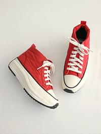 4cm thick padded high-top sneakers