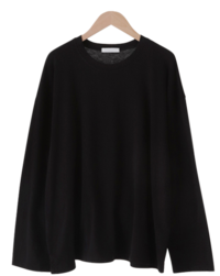 Topping Fleece-lined overfit T-shirt