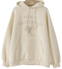 Organic Fleece-lined hooded sweatshirt 長袖上衣