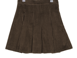 Gore corduroy pleated skirt