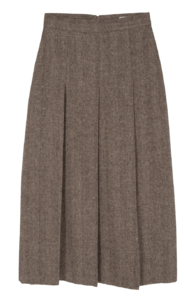Viva herringbone wool midi skirt