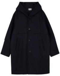Lobby hour hooded long coat