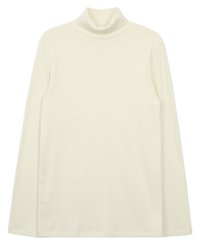It beams in Fleece-lined yeori Turtleneck T-shirt