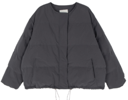 Lord round-neck short padded coat