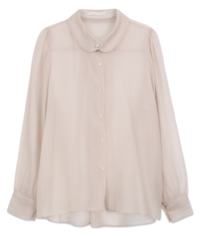 Pearl Button Shimmer Blouse