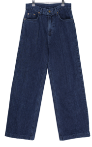 Waley deep blue wide denim trousers