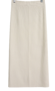 Split ribbed-knit skirt