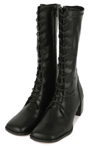 Zikan lace-up high heel boots