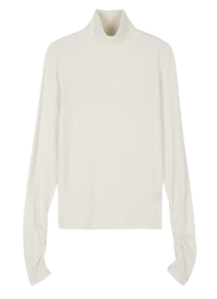Mate Shirring Warmer Turtleneck Top