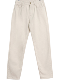 Basic Straight Cotton Brushed Pants
