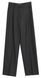Lopintuck Fleece-lined wide slacks