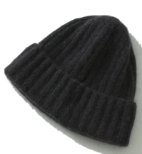 Soft Angora Ribbed Beanie Hat 帽子