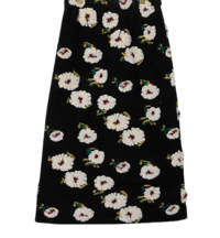 Fleece flower long skirt