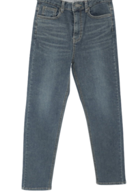 3092 Fleece-lined Faded slim denim pants