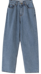 Melody wide Fleece-lined denim pants 牛仔褲