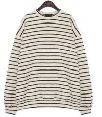 Striped Loose Fit Knit Sweatshirt