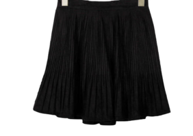Suede rich pleated skirt
