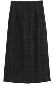 Pepper check woolong skirt