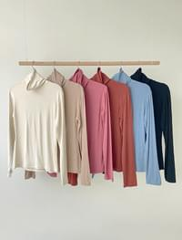 Powder basic Turtleneck T-shirt