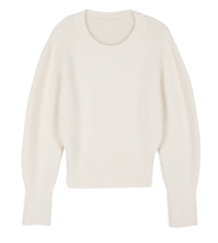 Sugar cropped crewneck knit