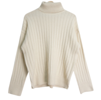 Sweet Ribbed Neck Polar Knit