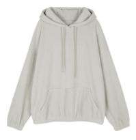 Velor hooded sweatshirt