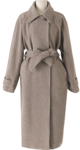 Time Belted Over Long Coat