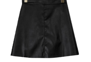 Leather mood mini skirt