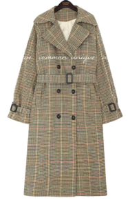 SATURN WOOL DOUBLE CHECK COAT