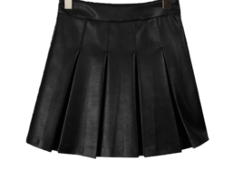 Leather Chichi Pleated Skirt