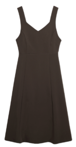 Jard Split Line V-Neck Dress 及膝洋裝