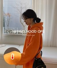 Loose Hooded Dress-2color