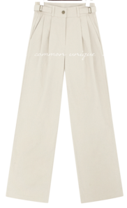 RAMIN PEACH PINTUCK WIDE PANTS