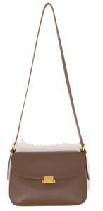 Gold-Tone Clasp Leatherette Bag