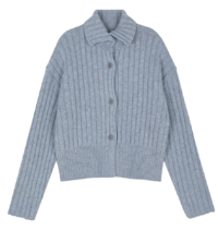 Art Ribbed Knitwear Cardigan
