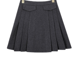 Wool Miko pleated skirt