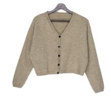 Puff v-neck cropped cardigan 開襟衫