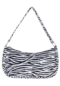 Zebra saddle shoulder bag