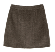 Sez herringbone wool mini skirt 裙子