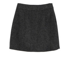 Sez herringbone wool mini skirt