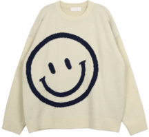 Smile Loose Fit Round Knit